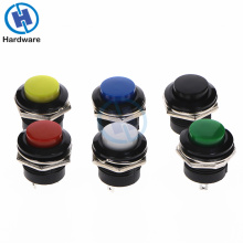 Round Momentary Push Button Switch  OFF-ON Non-locking Red/Blue/Yellow/Green/White 16mm 6A/125VAC 3A/250VAC 6pcs 22mm momentary push button switch red green blue yellow black white normal open normal close