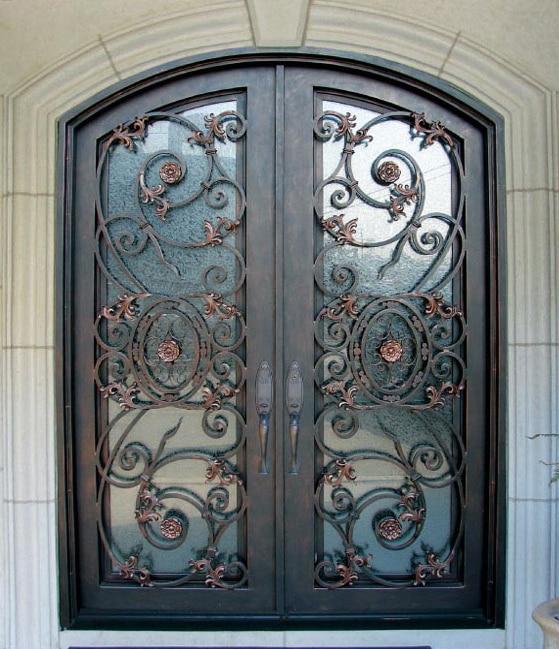 Forged Wrought Iron Door Double Entry Door Tcd 0372 In