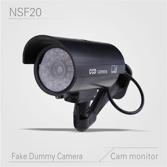 Fake Dummy Home Outdoor Surveillance Security Camera Motion Sensor Cam Cctv Ir Simulation Light Led Flashing