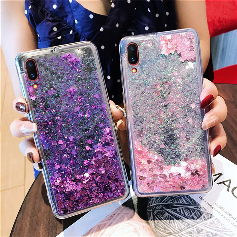 Bling Glitter Quicksand Soft Case For <font><b>OPPO</b></font> A3 A5 A3S A7 A9 F5 F7 F9 F11 pro R9S Plus R11 R9 R17 pRO <font><b>A57</b></font> A59 A83 phone <font><b>Back</b></font> <font><b>Cover</b></font> image