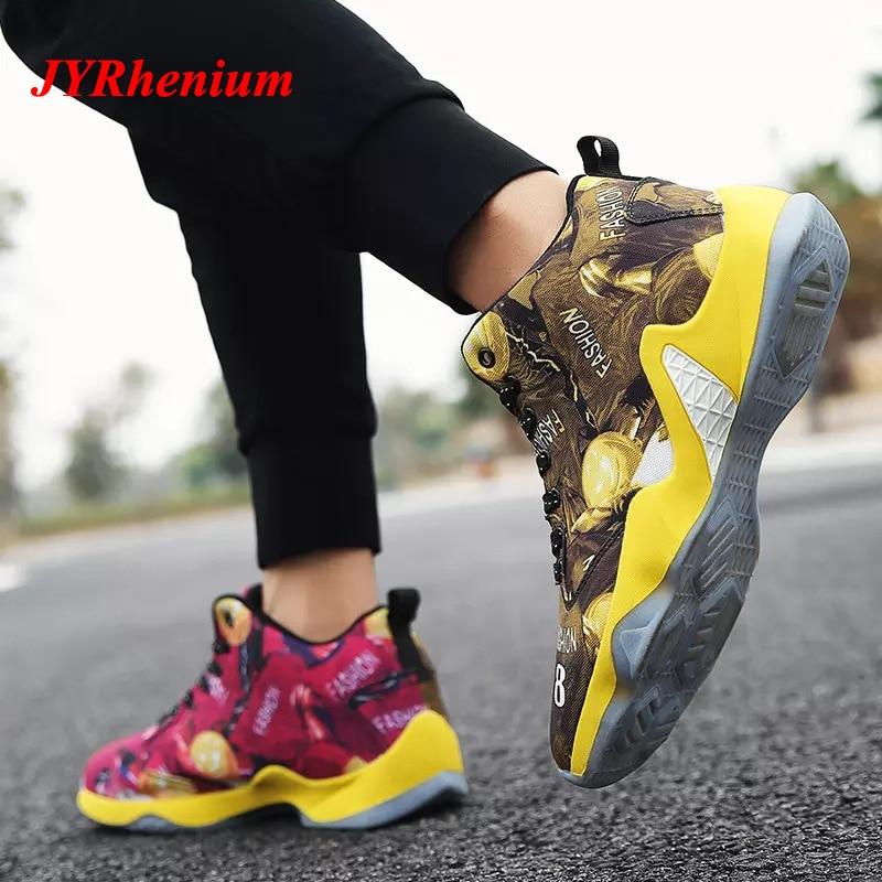 JYRhenium grande taille hommes basket-ball chaussures femmes amorti respirant basket-ball baskets anti-dérapant athlétique extérieur Jordan chaussures