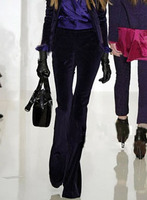 Fashion Women Slim Flare Pant Women Velvet Pants women plus size Trousers