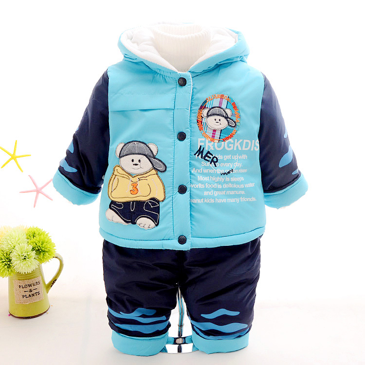 new 2017 baby boy winter kids boys cotton-padded clothing set coats+pants warm with velvet jacket kid's fashion cartoon clothes children winter coats jacket baby boys warm outerwear thickening outdoors kids snow proof coat parkas cotton padded clothes