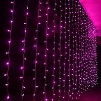 3m * 2.5m 240 bulbs Fairy LED Curtain lights christmas string lights Garland new year luces de navidad wedding decorations light
