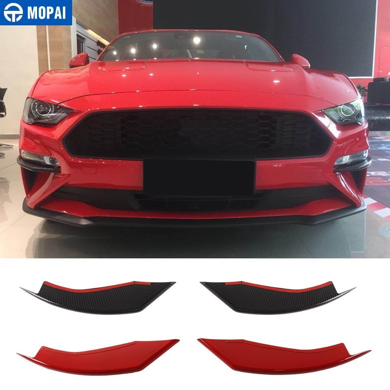 MOPAI Car Stickers for Ford Mustang 2018 Car Front Fog Light Lamp Eyelid Decoration Cover for