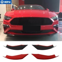 MOPAI Car Stickers for Ford Mustang 2018+ Car Front Fog Light Lamp Eyelid Decoration Cover for Ford Mustang 2019 Car Accessories