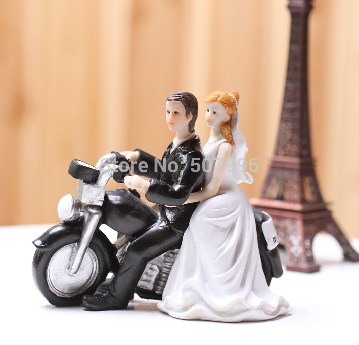 bike wedding cake stand motorcycle wedding cake toppers comical figure 11761