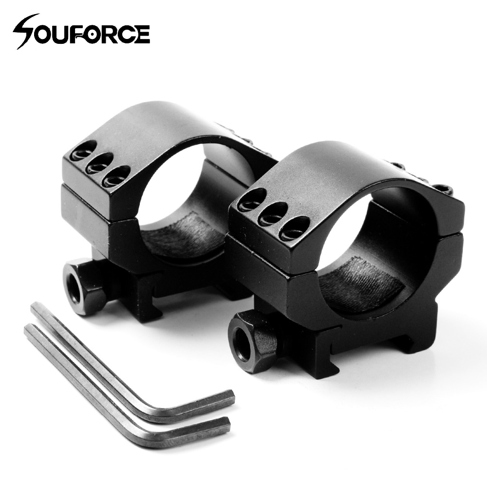 2 Pcs Low Profile Ring Weaver Picatinny Rail Scope Mount Heavy Duty 6 Bolts 30mm Scope Ring Extreme Hunting Accessories