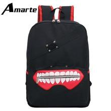 2019 Amarte New High Quality Anime Tokyo Ghoul Oxford Unisex Cartoon Softback Zipper Female Backpack Shoulder Bag Mochila