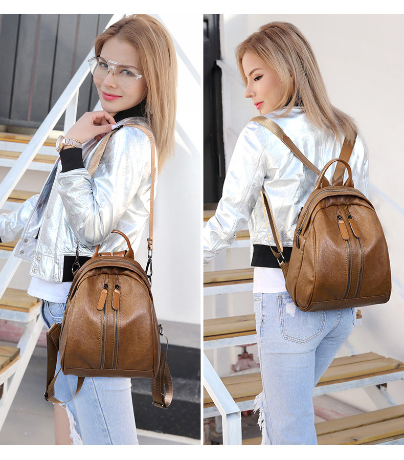 Autumn winter new backpack Casual fashion bag for women crossbody bag-in Backpacks from Luggage & Bags    1