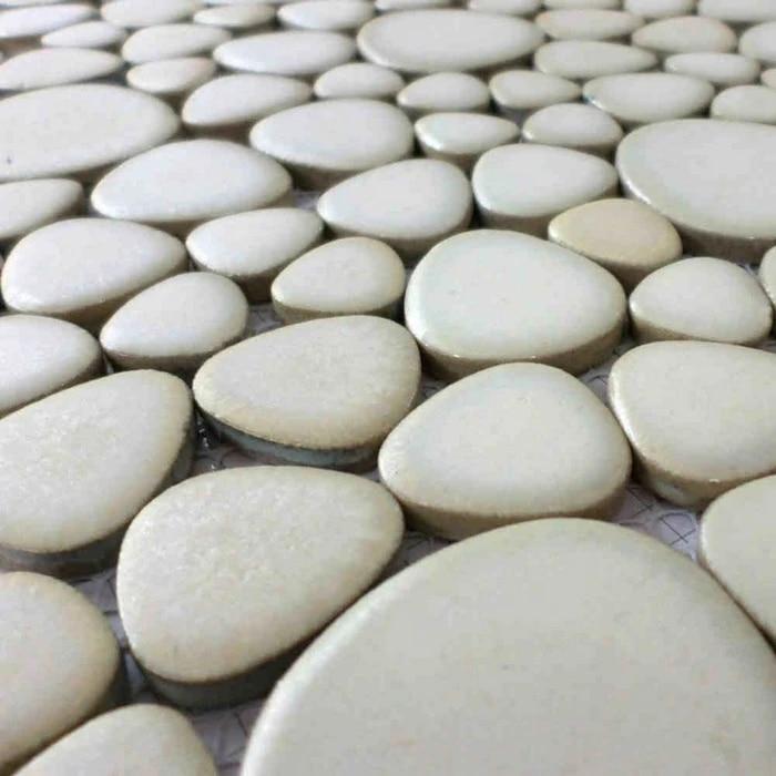 carreaux de sol cuisine carrelage ceramique carreaux de galets de couleur blanche pour salle de bain douche backsplash piscine mosaique couloir