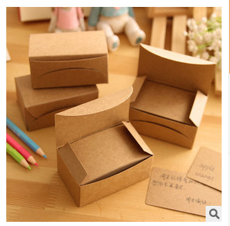 100 pcs/set Retro Vintage Memo Pads DIY Kraft Card Blank Colorful DIY Graffiti Postcard Word Memory Cards Note