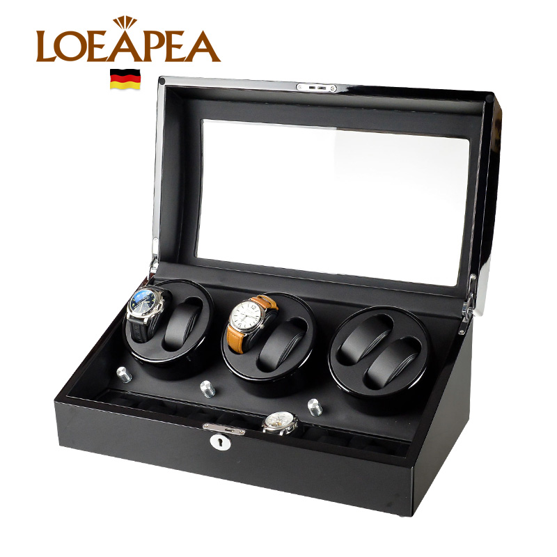 Automatic Watch winder box 6+7 watches Reel winder Japan MABUCHI motor with 5 model control Wooden bobbin winder box