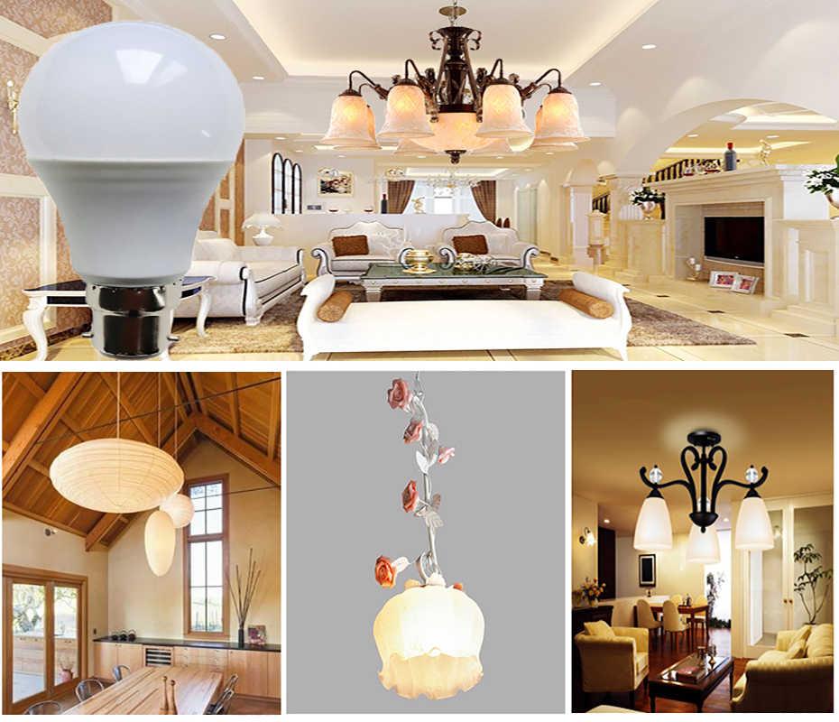 Ampoule de LED de puissance réelle B22 LED Ampoule de Lampada Bombilla 18 W 15 W 12 W 9 W 7 W 5 W 3 W lumière LED 220 V 110 V projecteur de LED blanc froid/chaud