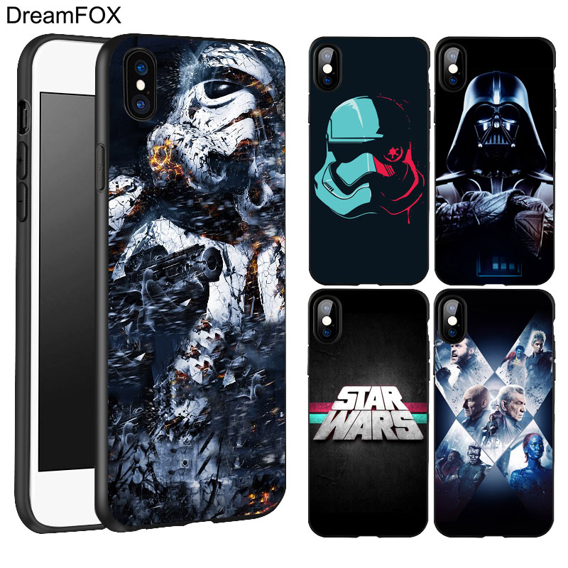 DREAMFOX K211 Star Wars Game Of Han Black Soft TPU Silicone Case Cover For Apple iPhone X 8 7 6 6S Plus 5 5S 5G SE