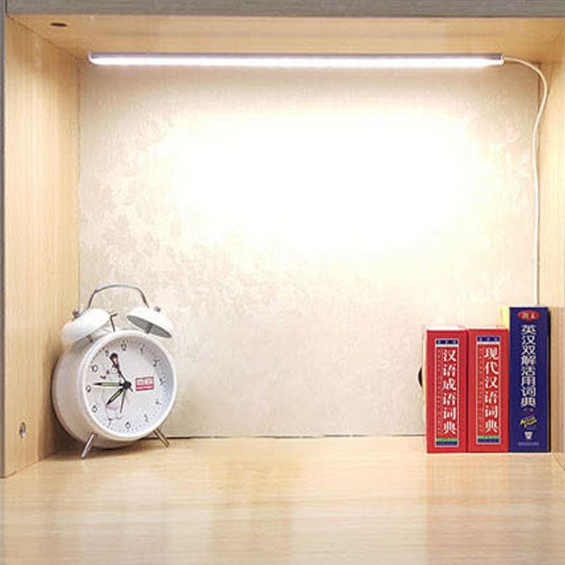Portable USB LED Desk Table Lamp Light 5V LED Strip Rigid Bar Lights for Book Reading Study Office Work Children Night Light