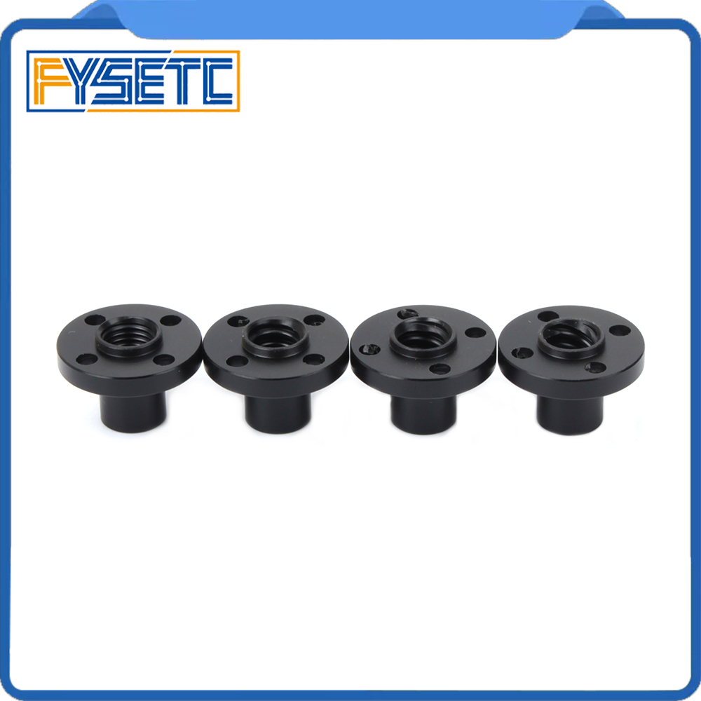 2PCS 3D Printer Z Axis Trapezoid Motor Screw Nuts T8 Nut Trapezoidal Screw Nut POM Nut Lead 1mm 2mm 4mm 8mm  For Lead Screw