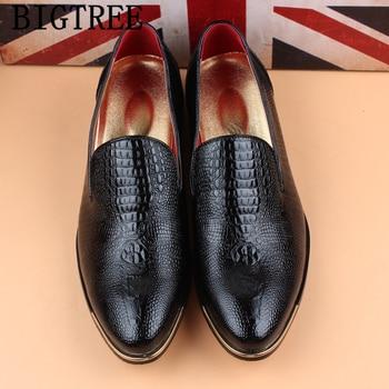 bbc90b0f Italiano coiffeur formal zapatos de los hombres clásicos zapatos de cocodrilo  zapatos de traje de los hombres zapatos de la boda vestido de fiesta de ...