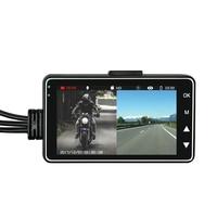 3 Inch Motorcycle Dirver Recording Camera Gravity sensor Loop Recording Motorcycle Front Rear Dash Cam Recorder (Black)