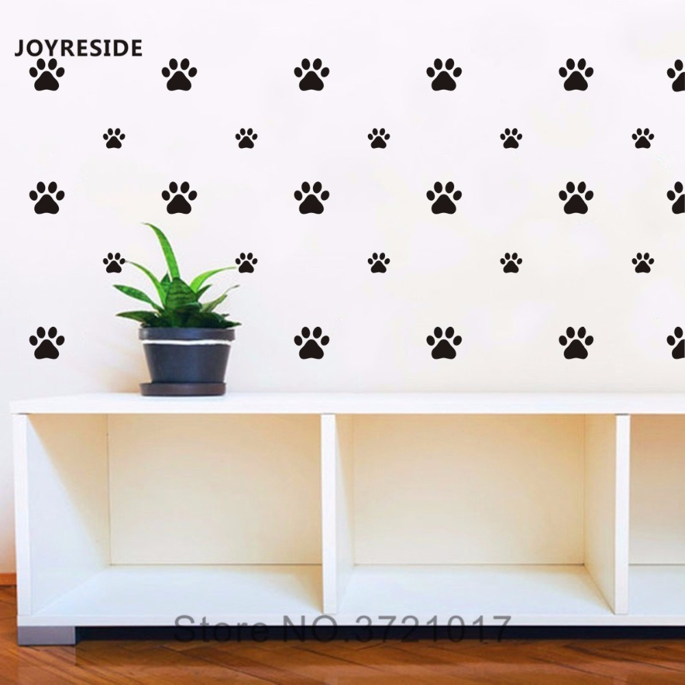 JOYRESIDE 36 Pieces//Maple Leaf Wall Decal Art Vinyl Sticker for Kids Boy Girl Nursery Room House Home Decoration Baby Bedroom Decor YMX22 Black