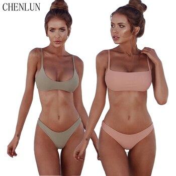 CHENLUN 2018 sexy Bikini Set Summer Solid color Swimwear Brazilian Bikini Women Beach Wear Bathing Suit Popular Female Swimsuit