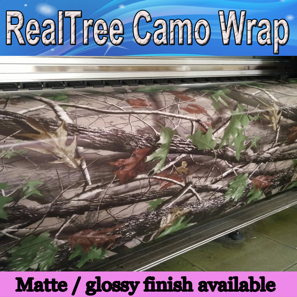 realtree camo vinyl for car wrap sticker real tree leaf camouflage film auto styling covering. Black Bedroom Furniture Sets. Home Design Ideas
