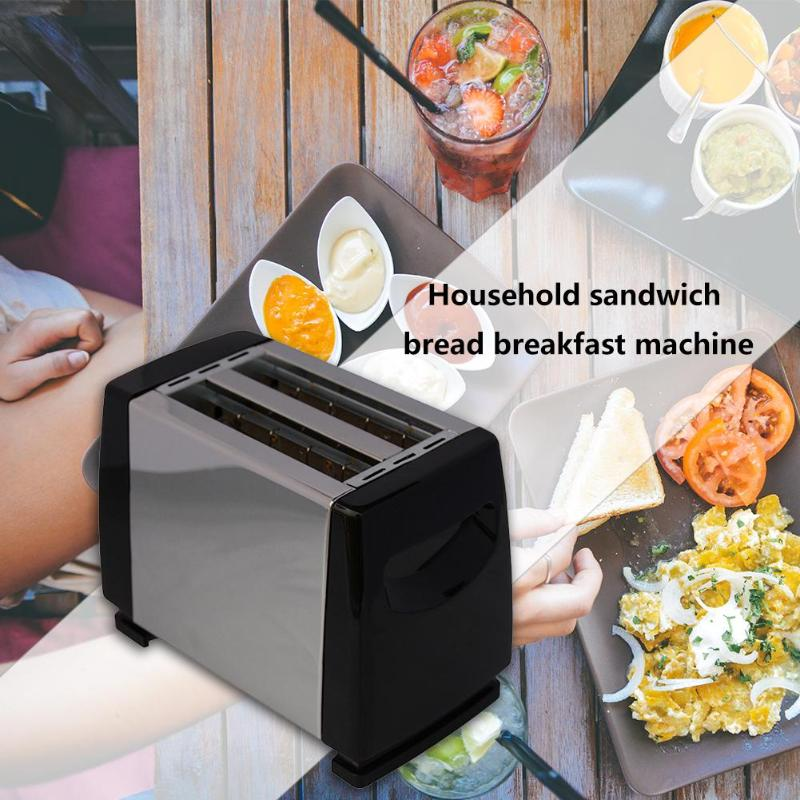 SOKANY 750W 6-speed Automatic Toaster Of 2 Slice Toaster Home Sandwich Maker Breakfast Machine