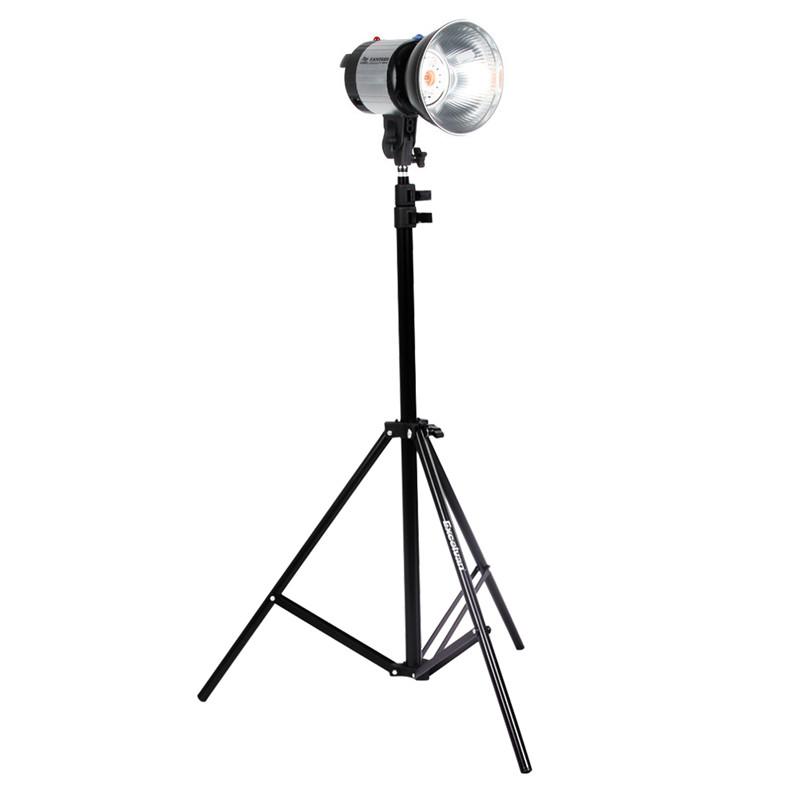Prix pour Nouveau Style 2.1 m Photo Photographie Studio Light Stand Trépied Professionnel En Alliage D'aluminium Max 210 cm Trépied