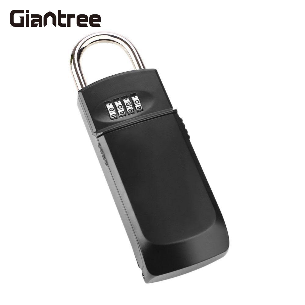 giantree Convenient Metal Safe Box Four Password Key Security Safety Money Storage Safe Box Home Office Supplies giantree portable money box 6 compartments coin steel petty cash security locking safe box password strong metal for home school