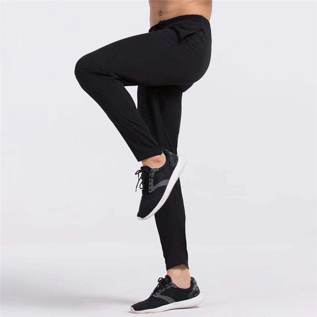 Men Running Pants Gym Fitness Sports Legging Jogger Basketball Training Workout Running Trousers Sportswear Reflective  1