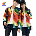 S-XXXL 3XL Matching Couple Clothes Lovers Coats Spring Winter Tops Outerwear Slim Print Button Slim Casual Korean Couple Jackets