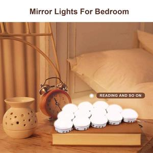 Image 2 - Hollywood Style LED Vanity Mirror Lights Kit 10/12 LED Bulb 7000K Dimmable Daylight White Flexible for Makeup Vanity Table