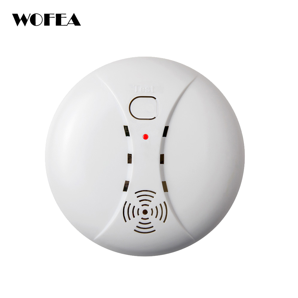 Wofea 5pcs/lot 433Mhz/315Mhz Wireless Fire Smoke Detector Alarm Sensors Home Security System