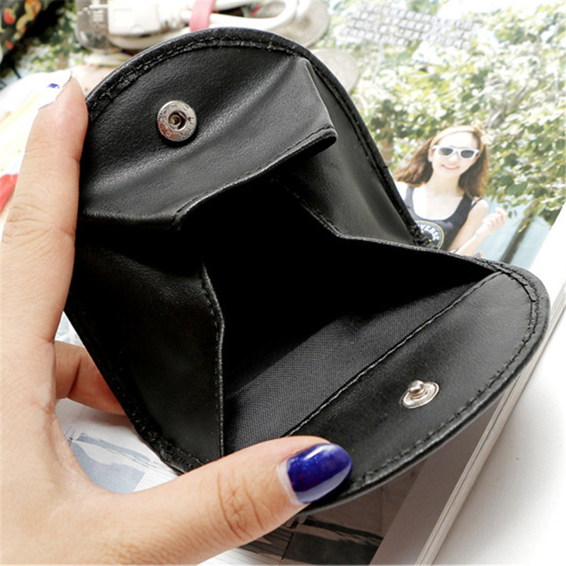 Men Retro simple Hoop Coin Purses Female Hasp Small Wallet Girl Change Purse Key Money Bag Mini Zero Wallet Cow Leather Coin bag