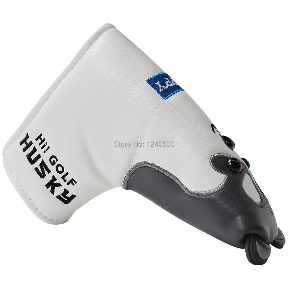Golf atıcı kapak manyetik kapatma PU deri güzel Husky Golf atıcı başörtüsü Golf sopası kılıfı damla gemi