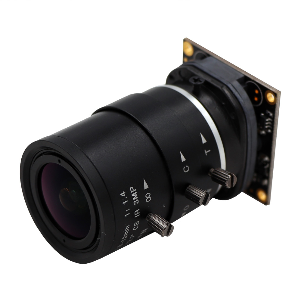8MP CS Mount Varifocal 2 8 12mm Sony IMX179 UVC OTG Plug Play Driverless USB Camera