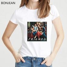 Best friends TV show t shirt women funny tshirt femme harajuku 90s aesthetic clothes female t-shirt streetwear