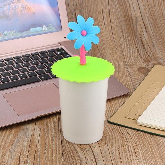 Очень милая форма чаши чистой санитарной Подсолнечник Кружева пыли многоразовый силикон крышка чашки DIY бесплатно сплайсинга Термальность крышка изоляции