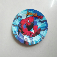 10pcs 7 inch plate children's birthday party for the birthday party of the cartoon cake tray party paper plate special
