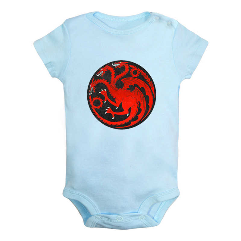 Dragons Game of Thrones House Targaryen of King's Landing Fire and Blood Newborn Baby Outfits Jumpsuit Infant Bodysuit Clothes