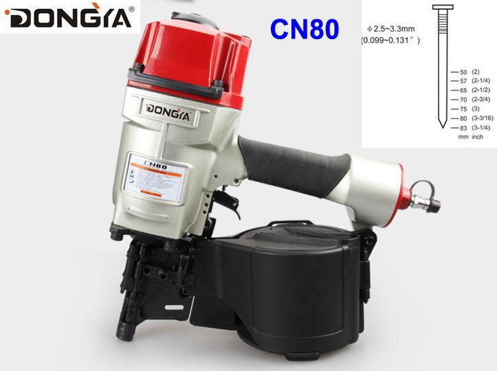 High Quality dongya Coil nailer CN80 coil nail guns industrial coil nailer for pallet making Air