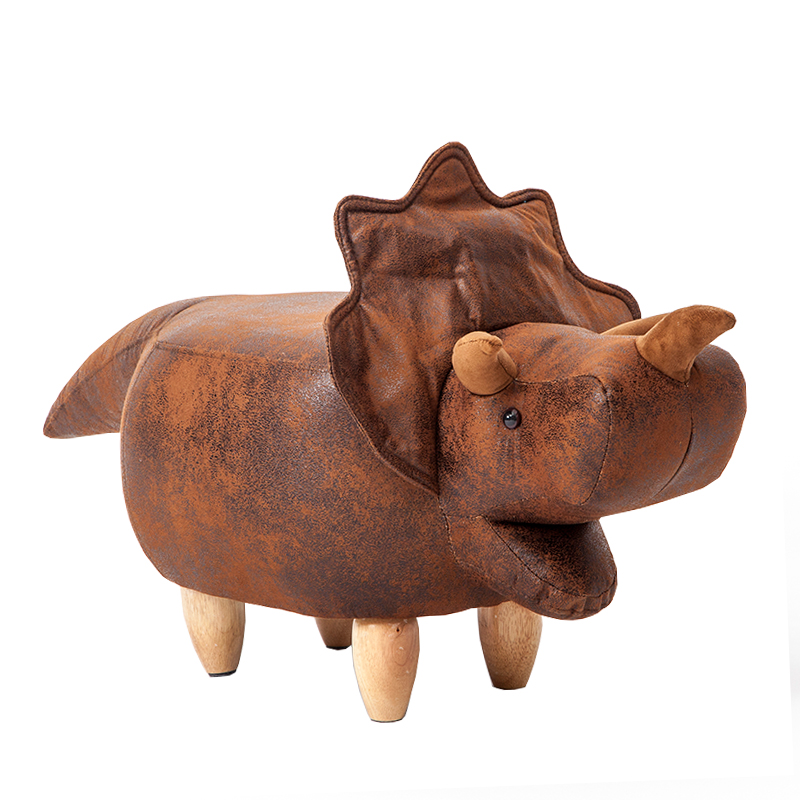 Creative shoes bench solid wood home animal wear shoes stool dinosaur fashion storage test shoes footstool