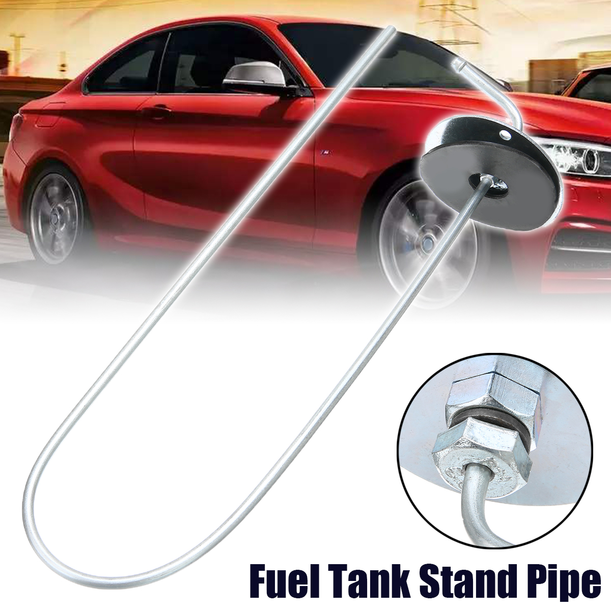New Arrival 1pc Metal & Rubber Car Vehicle Fuel Tank Stand Pipe For Heaters 600mm Long OD 5mm