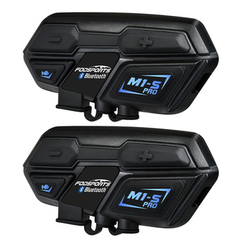 Fodsports 2 шт M1-S Pro мотоциклетный шлем Интерком Группы 8 мотоциклетный шлем Bluetooth гарнитура водостойкие громкой связи переговорные Moto