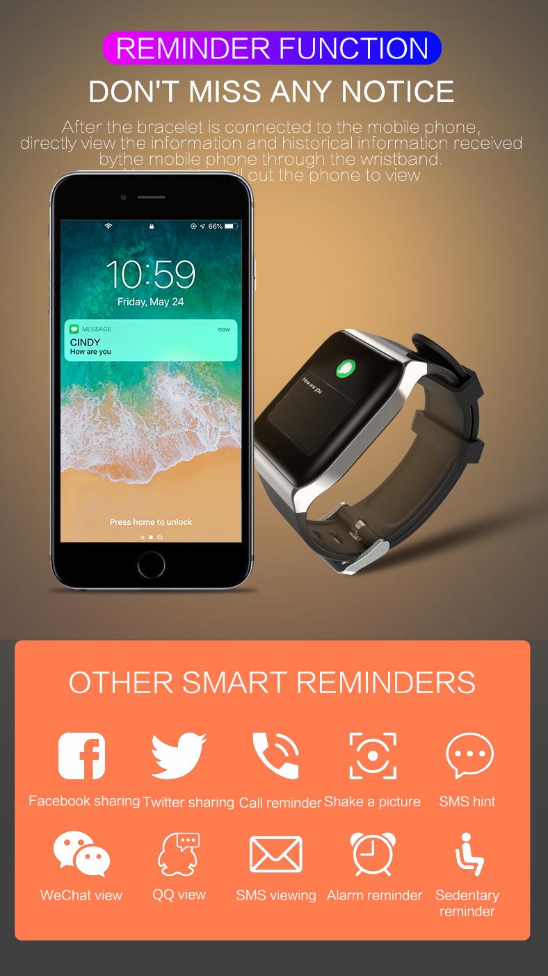 KSUN KS58 pulsera inteligente banda con Monitor de ritmo cardíaco 13