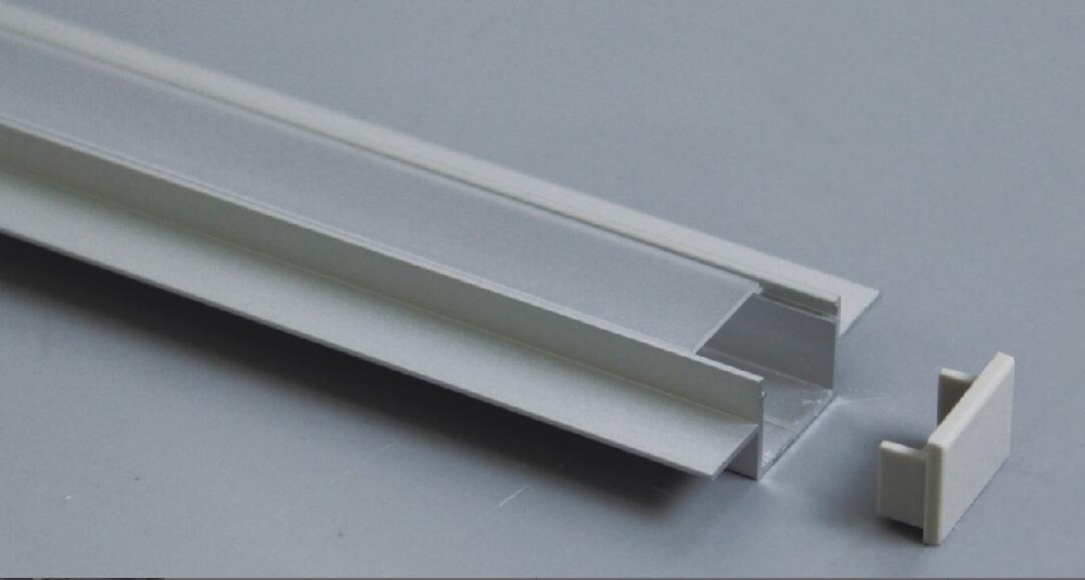 Free Shipping 30pcs/lot 2m/pc 16mm width recessed LED lighting aluminum <font><b>profile</b></font> extrusion frames for 3528 240leds/<font><b>m</b></font> led strip