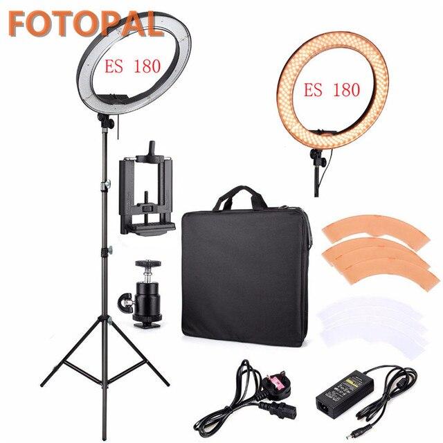 """Fotopal fotoğrafçılık LED halka ışık makyaj için 13 """"5500 K kısılabilir kameralı telefon fotoğraf stüdyosu Video lamba Youtube ile tripod standı"""