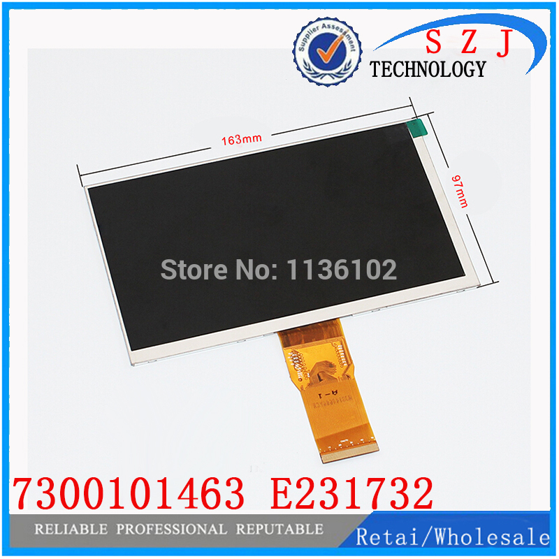 (Ref:7300101463 E231732) Original 7'' inch 163*97mm HD 1024 * 600 LCD display for cube U25GT tablet PC free shipping 10Pcs/lot original 7 inch lcd display kr070lf7t for tablet pc display lcd screen 1024 600 40pin free shipping 165 100mm