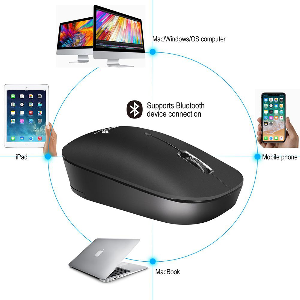 US $4 35 19% OFF ZERODATE T18 Bluetooth3 0 Wireless Mouse Portable Mobile 3  Button Mouse with High definition Optical Sensor for Laptop Tab r20-in