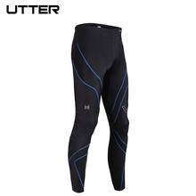 2016 UTTER J4 Men's Long Feature Running Tights Sport Legging Compression Sportswear Football Basketball Tights Fitness Leggings